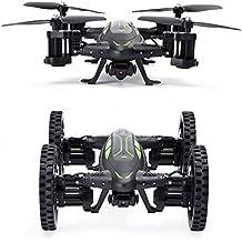 qqpow Control Remoto Flying Car y Drone con 2,4GHz RC Quadcopter Modo Headless, Flip 3d con cámara HD