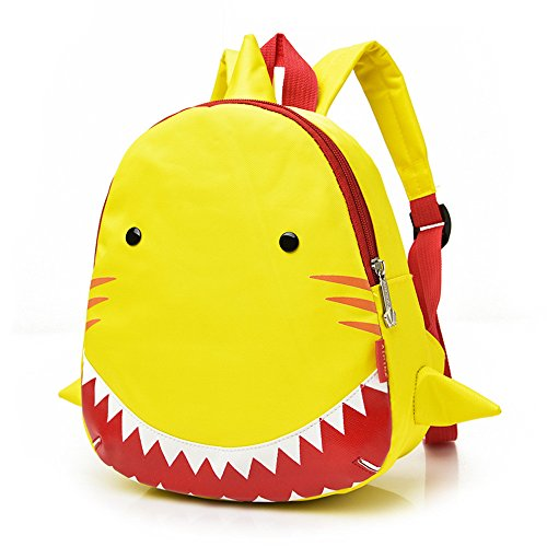 Hammer Heavy Zip Gun Duty (MSOO Textured Baby Boys Girls Kids Shark Pattern Animals Backpack Toddler School Bag (Yellow))
