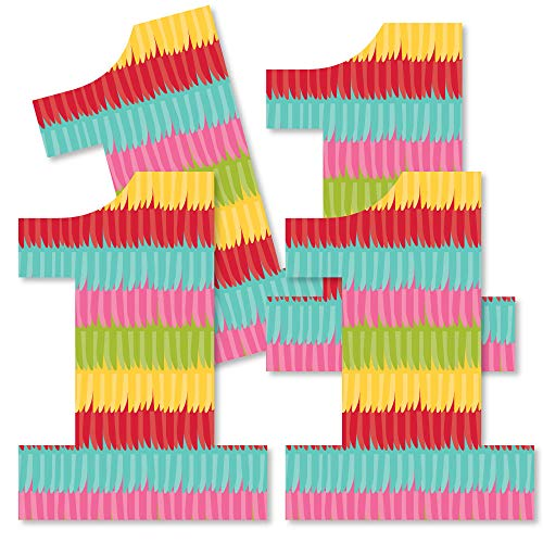 1st Birthday Let's Fiesta - One Shaped Decorations DIY Mexican Fiesta First Birthday Party Essentials - Set of 20 -