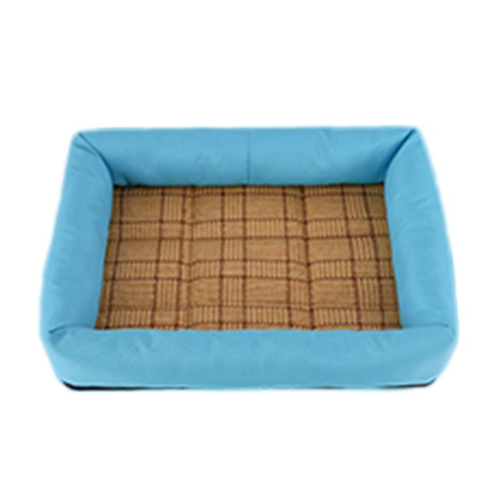 bluee Medium bluee Medium Pet Nest Cool and Comfortable Summer Supplies (color   bluee, Size   M)