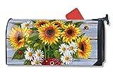 MailWraps Bandana Sunflowers Mailbox Cover #01095