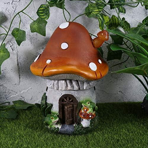 Mobestech - Luces solares de resina para jardín con forma de seta para decoración de patio o jardín: Amazon.es: Iluminación