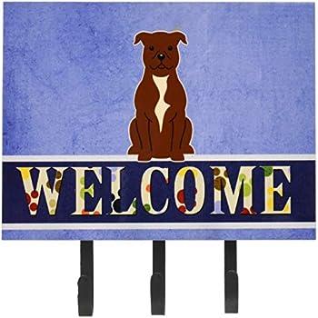 Carolines Treasures Welcome Friends English Bulldog Wall Hook Triple Multicolor