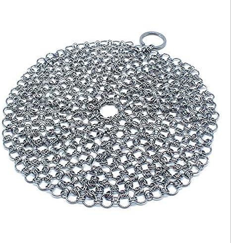 HANBIN Depurador de acero inoxidable limpiador para olla olla seca y wok sartén hierro fundido Round