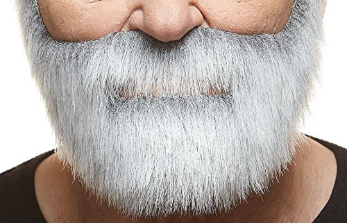 Nobleman gray with white fake beard, self adhesive