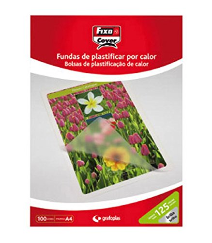 Amazon.com : Fixo 1021100 - Box of 100 A4 Laminating Pouch ...