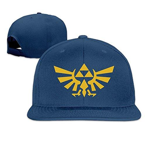 ESM Caps Zelda Logo Men and Women Navy Adjustable Baseball Cap Motorcycle Hat