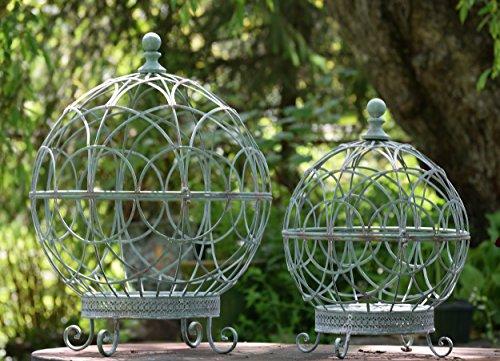 Spherical Globe Plant Cages (set of 2) (Copper Blue) by Zaer Ltd.