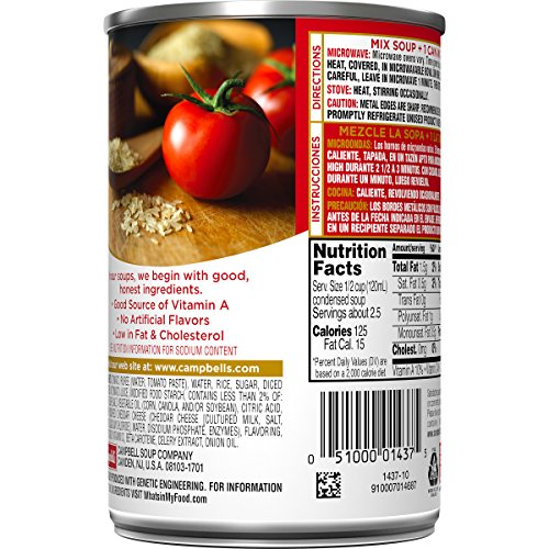 Campbells Condensed Old-Fashioned Tomato Rice Soup, 11 oz. Can (Pack of 12)