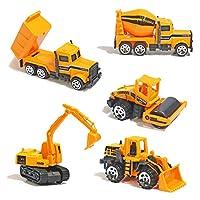 TH Toys Vehicules de Chantier Mini Jouet Camion A partir DE 3 Ans (5pcs Set)
