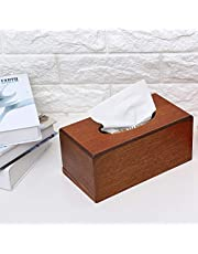Tissue Box, Tissue Holder, With A Delicate Light, Bright Clean for Living Room for Paper(Light color, Black)