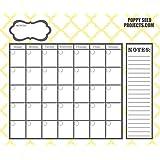 Organize It Dry Erase Calendar - 15x18 (YELLOW QUATREFOIL)