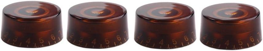 Gitarre Potiknöpfe mit Weiß Zahlen für Gibson Epiphone in Tee Farbe