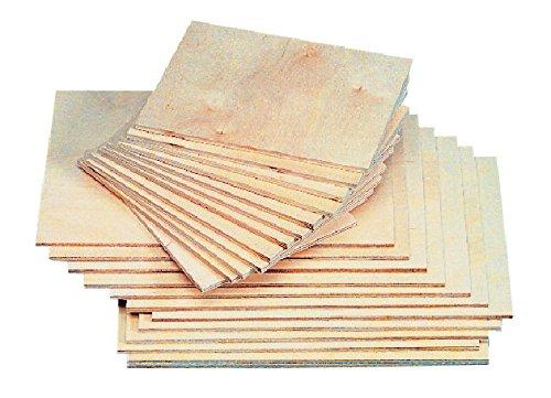 School Specialty AE-102 American Easel Baltic Birch Veneer Smooth Block Printing Panel, (Wood Plywood Veneers)