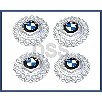 BMW (88-95 models) Wheel Center Caps (x4) BBS wheels (style 5) GENUINE
