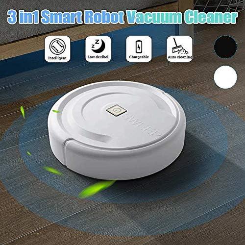 Mdsfe 3in1 Smart Robot Aspirateur Multifonctionnel Navigué Balayage Vadrouille Balayeuse Automatique Capteur Bord Maison Salle Propre Machine - Noir