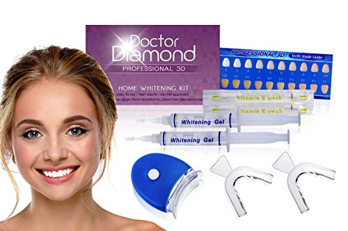 Dr. Diamond Complete 3D At-Home Teeth Whitening Kit Rated #1 In the USA- Deluxe Edition (Teeth Whitening At Home)