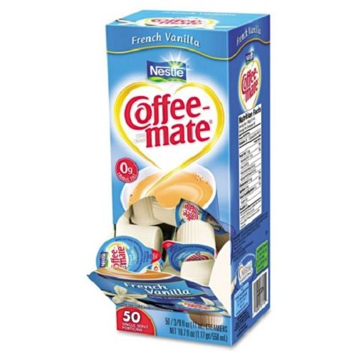 French Vanilla Creamer, .375oz, 50/Box, Total 200 PK, Sold as 1 Carton