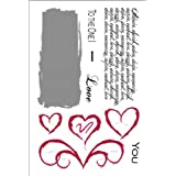 Our Craft Lounge Unmounted Red Rubber Valentine Stamp Set-love Notes