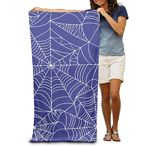 Beach Towel Halloween Spider Web Microfiber (Halloween Webs Clipart)