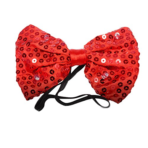 LED Light Red Sequin Bowtie