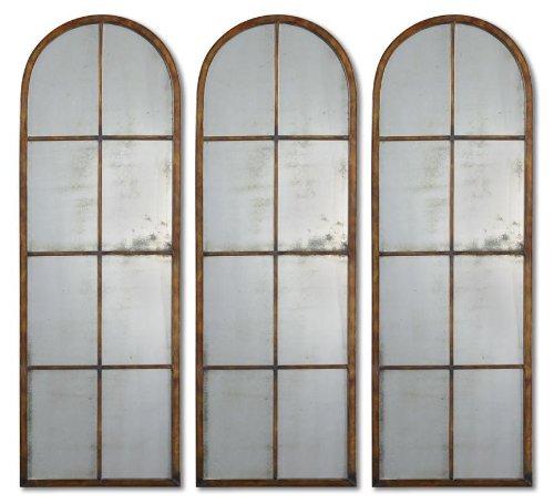 Uttermost Amiel Arch Mirror 1.375 x 16.5 x 50, Maple Brown