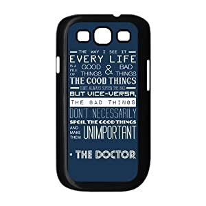 Fashion Hardshell Snap On Slim Phone Cover Case for Samsung Galaxy S3 i9300 - Dr Who Quotes