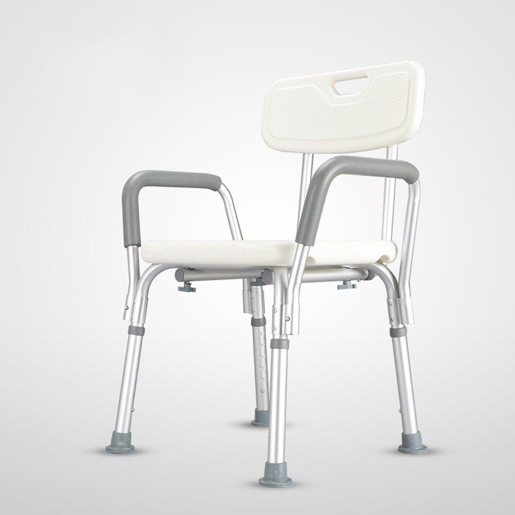 シャワー椅子エルダーシャワー椅子アルミ製バス椅子ノンスリップバス椅子バスルーム椅子ホワイト (サイズ さいず : A) B07DFCQCQS A  A