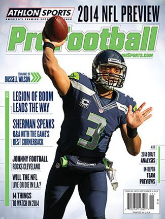 (2014 Athlon Sports NFL Pro Football Magazine Preview- Seattle Seahawks Cover)
