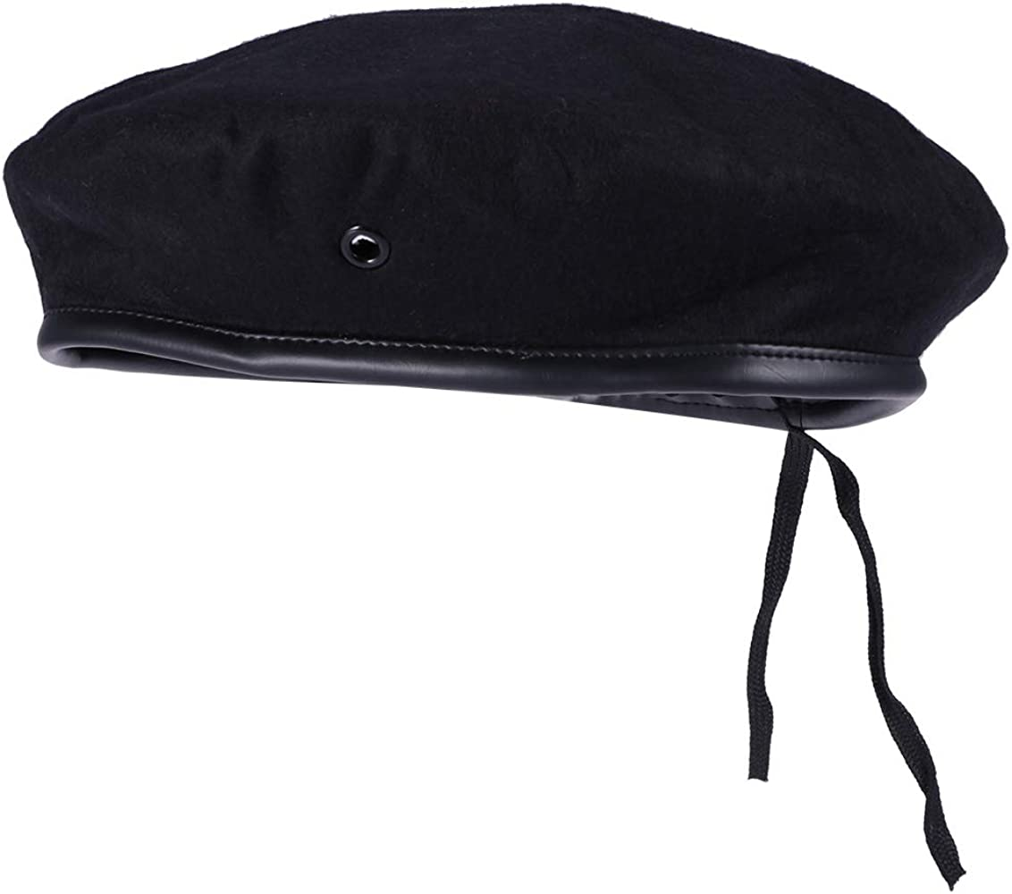 Amosfun Sombrero de Marinero clásico Traje Negro de capitán Boina ...