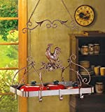 Kitchen Ceiling Mounted Pot And Pans Lid Rack Hanging Iron Holder Shelf Hooks Bar Home Decorative