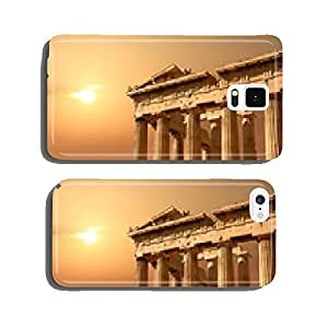 Ruins isolated on sunset orange sky with copy-space cell phone cover case Samsung S6