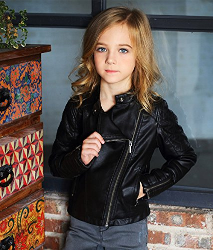 8fe7096f3ca6 LJYH Girls Faux Leather Quilted Shoulder Motorcycle Jacket - Buy ...