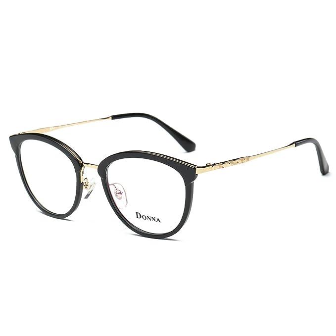 Amazon.com: Donna DN21 - Gafas de mujer con montura redonda ...