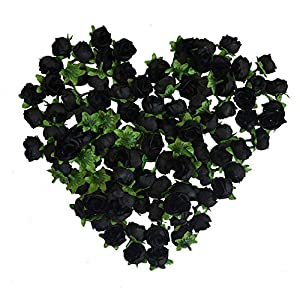 Eternal Blossom Artificial Rose Flower Head 50PCs for Wedding Planning, Holiday Party, 3cm Fake Flower Home Decoration, Baby Shower 37