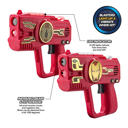 Avengers Infinity War Laser Tag for Kids Infared Lazer Tag Blasters Lights Up & Vibrates When Hit - coolthings.us