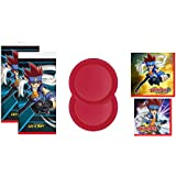 Beyblade Party Supply Kit for 16 Plates Napkins & Tablecover