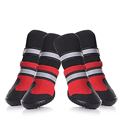 Petacc Dog Shoes Waterproof Dog Boots Anti-Slip Snow Boots Warm Paw Protector for Dog in Winter by Petacc