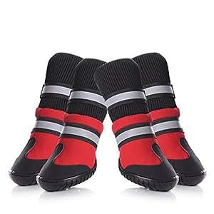 Amazon.com : Petacc Dog Shoes Waterproof Dog Boots Anti