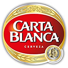 Carta Blanca Cerveza Mexico Beer Drink Car Bumper Sticker Decal 12'' X 11.5''