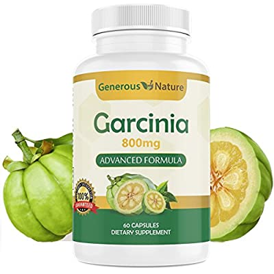 Garcinia Cambogia Advanced Weight Loss Support Capsules By Generous Nature - Boost Metabolism, Suppress Appetite, Antidepressant, HCA - For Women & Men