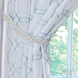 Home Queen Hand Braided Curtain Tie Back, Buckle