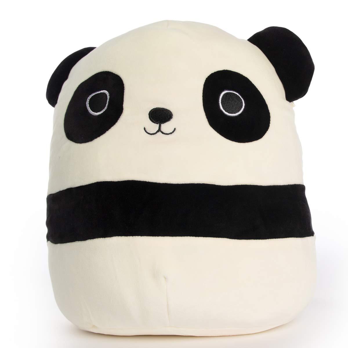 Squishmallow 12'' Plush Soft Animal Pillow Toy (Stanley The Black Panda)