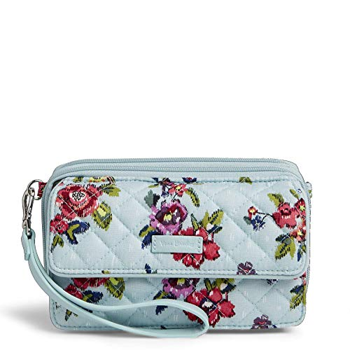 Vera Bradley Iconic RFID All in One Crossbody, Signature Cotton, Water Bouquet, Water Bouquet, One Size