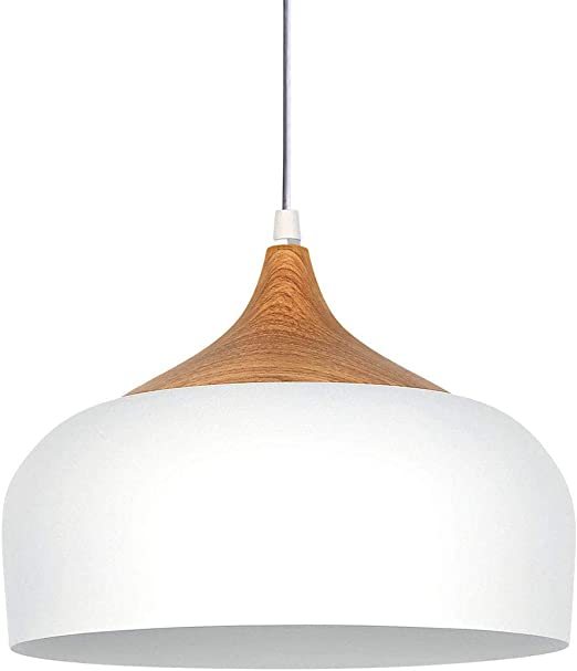 Lámpara colgante Moderne aluminio blanco E27 Susoension luz