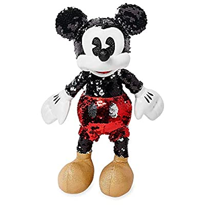 Disney Mickey Mouse Reversible Sequin Plush – Small – 15'': Toys & Games