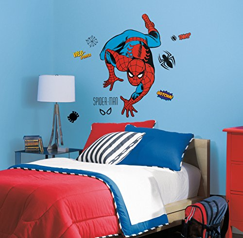 Marvel Classic Spiderman Peel and Stick Giant Wall Decals 18 x 40in
