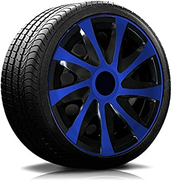 Autoteppich Stylers 14 14 Zoll Radkappen 04 Rk Schwarz Royalblau Radblenden Farbe Und Größe Wählbar Auto