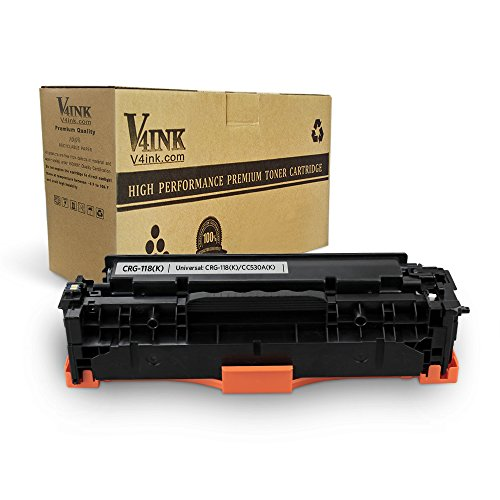 V4INK Remanufactured Toner Cartridge Replacement for Canon 118 HP 304A CC530A for use with Canon ImageCLASS MF726Cdw LBP7660Cdn MF8580CDW MF8380Cdw HP Color Laserjet CP2025dn CP2025n CM2320fxi,1 Pack