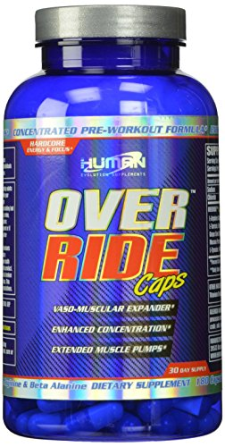 Human Evolution Supplements Over Ride 30 Day Supply Capsules, 180 Count